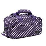 Members Essential On-Board Ryanair Compliant Second Hand Baggage in Purple & White Polka Dot
