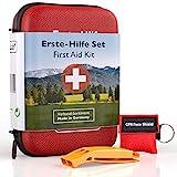 GoLab Erste Hilfe Set Outdoor - Survival Kit. Sport & Reise First Aid Kit mit Notfallbeatmungsmaske + Signalpfeife für die optimale Erstversorgung & Tasche - aus Deutschland nach DIN 13167