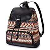 VBIGER Damen Rucksack Daypack Canvas Rucksack Vintage Rucksack Schulrucksack Freizeitrucksack Tagesrucksack für Damen